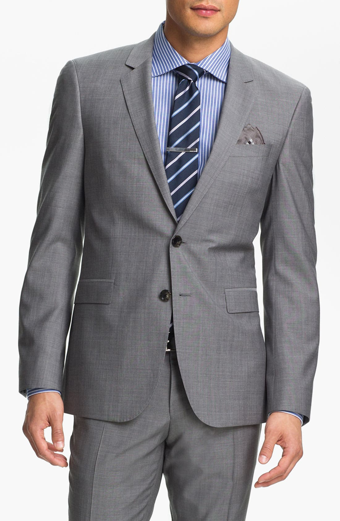 Alternate Image 1 Selected - BOSS Black 'Ryan/Win' Extra Trim Fit Suit