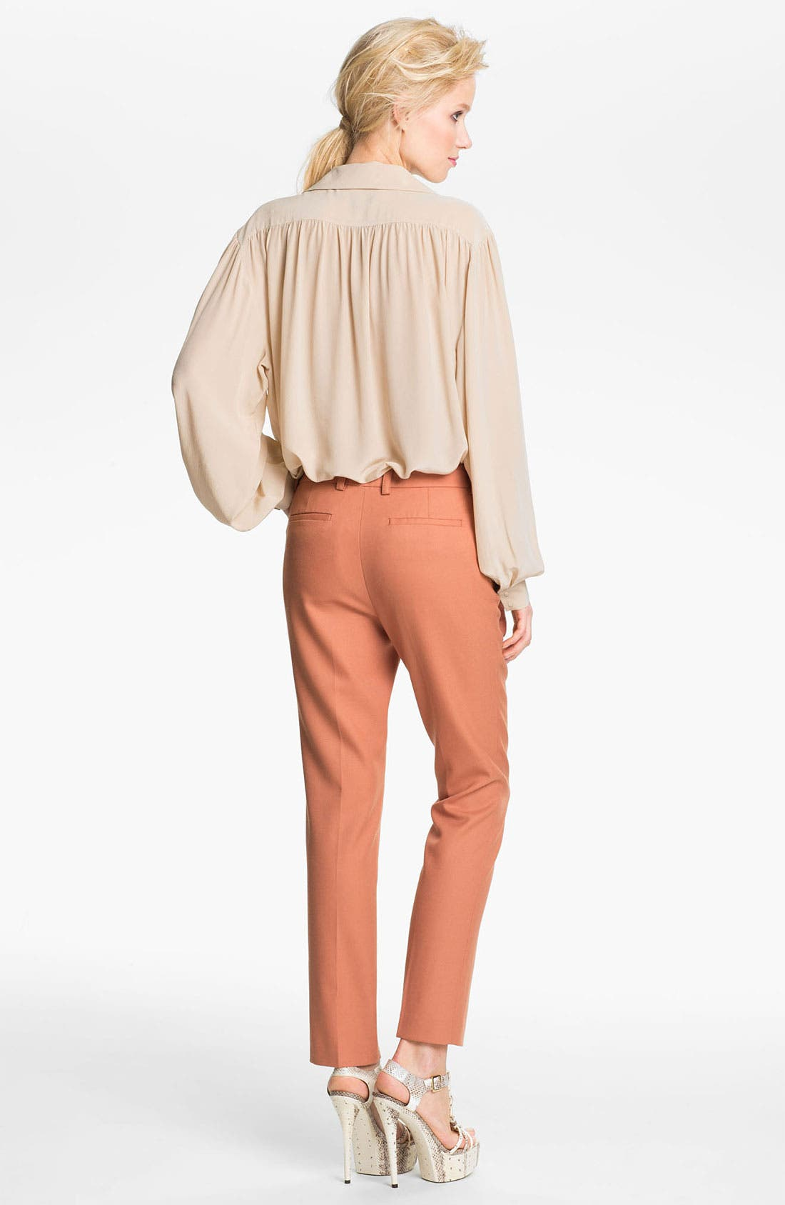 Alternate Image 2  - Rachel Zoe 'Malin' Bishop Sleeve Silk Blouse