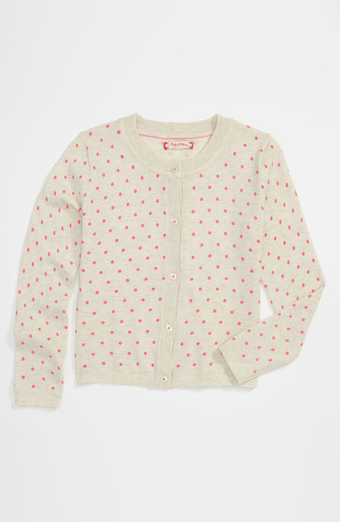 Main Image - Ruby & Bloom Print Cardigan (Little Girls)