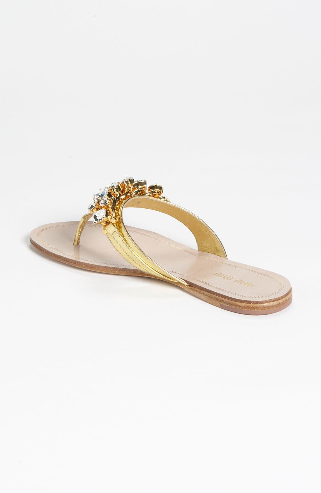 Alternate Image 2  - Miu Miu Jeweled Thong Sandal