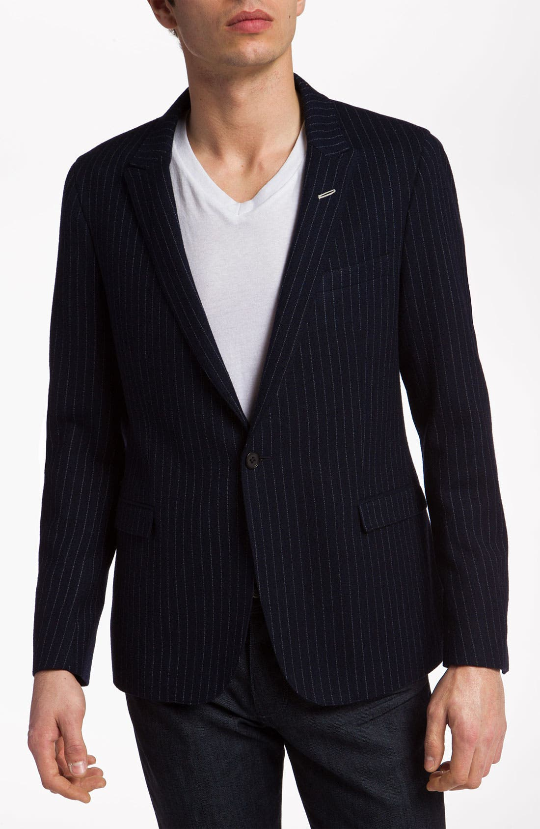 Alternate Image 1 Selected - Gant Rugger One Button Pinstripe Blazer