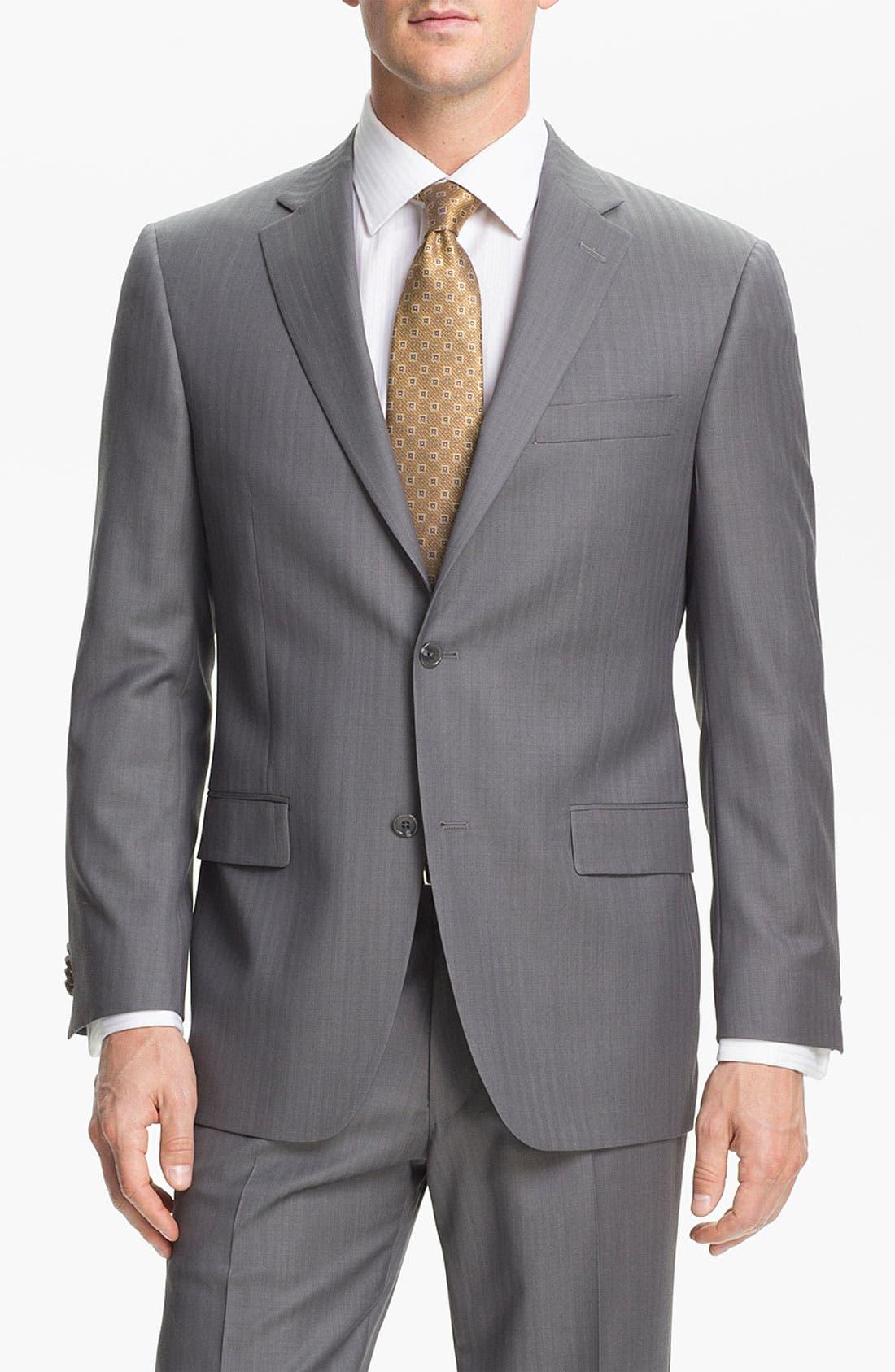 Alternate Image 4  - Hart Schaffner Marx Herringbone Suit