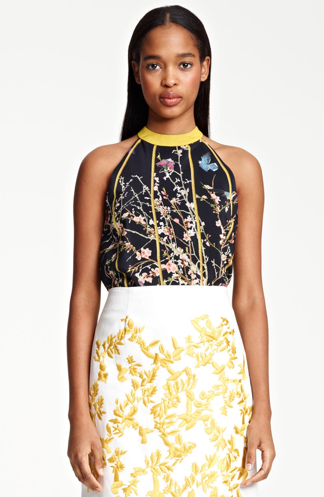 Alternate Image 2  - Thakoon Birdcage Print Silk Top