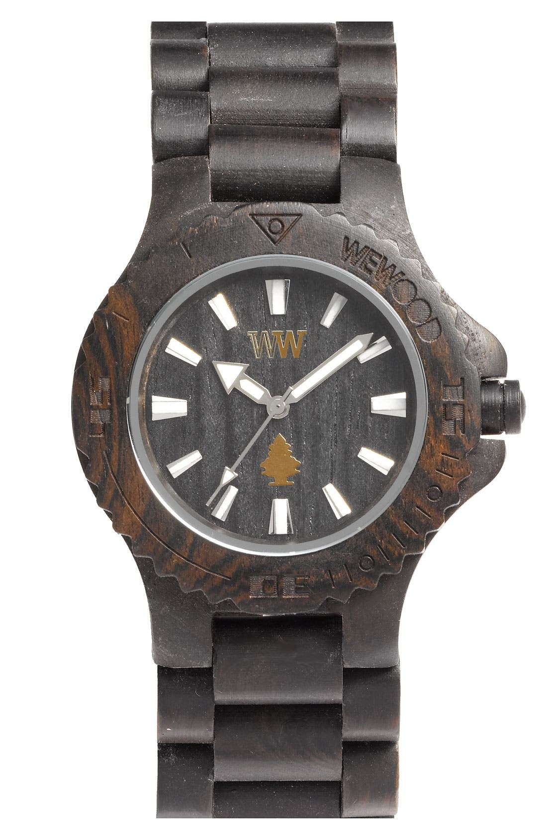 Main Image - WeWOOD 'Date' Bracelet Watch, 40mm
