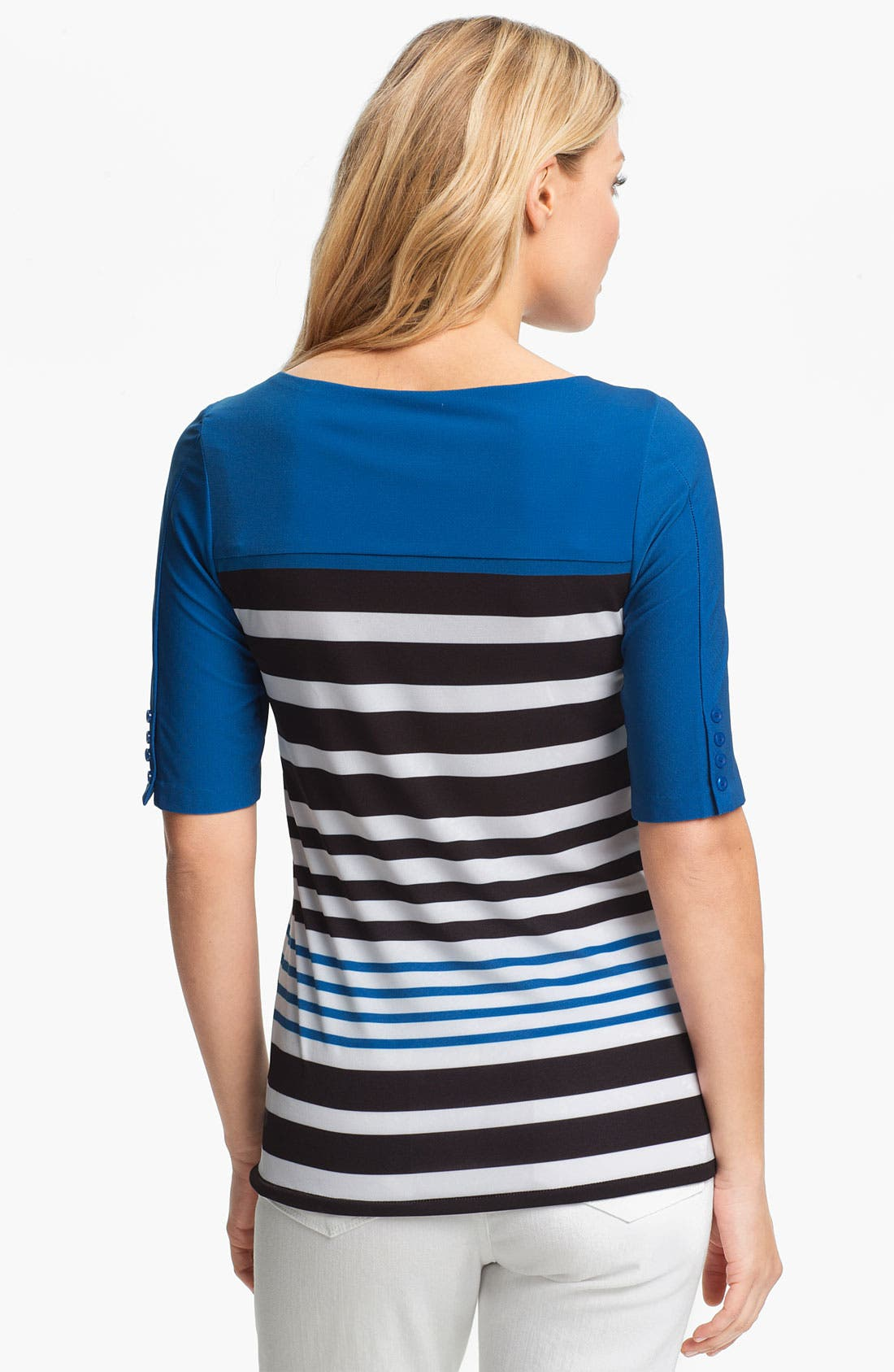 Alternate Image 2  - ECI Elbow Sleeve Stripe Tee