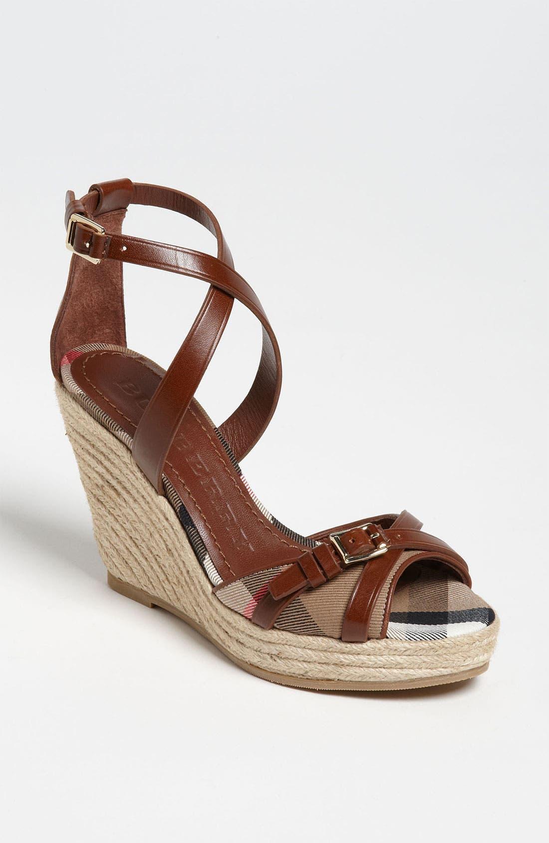 Alternate Image 1 Selected - Burberry 'Walden' Wedge Sandal