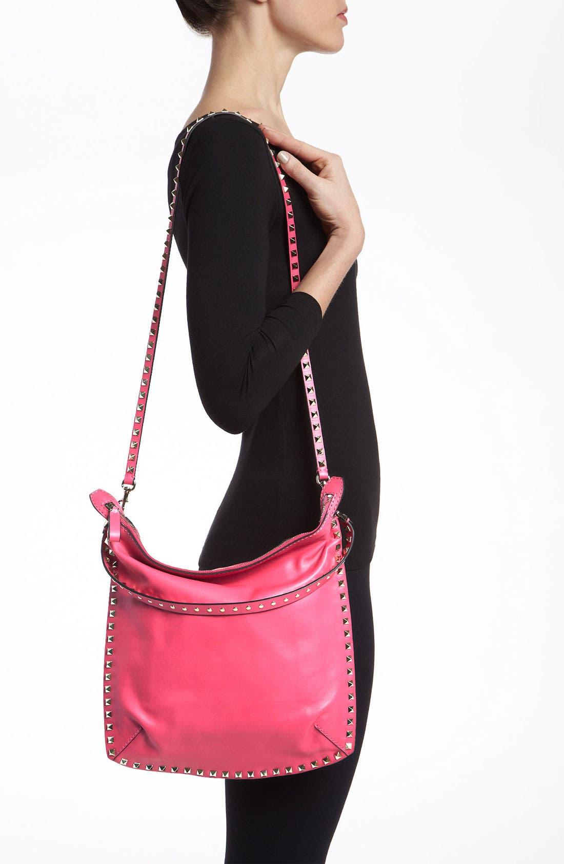 Alternate Image 2  - Valentino 'Small Rockstud' Leather Hobo