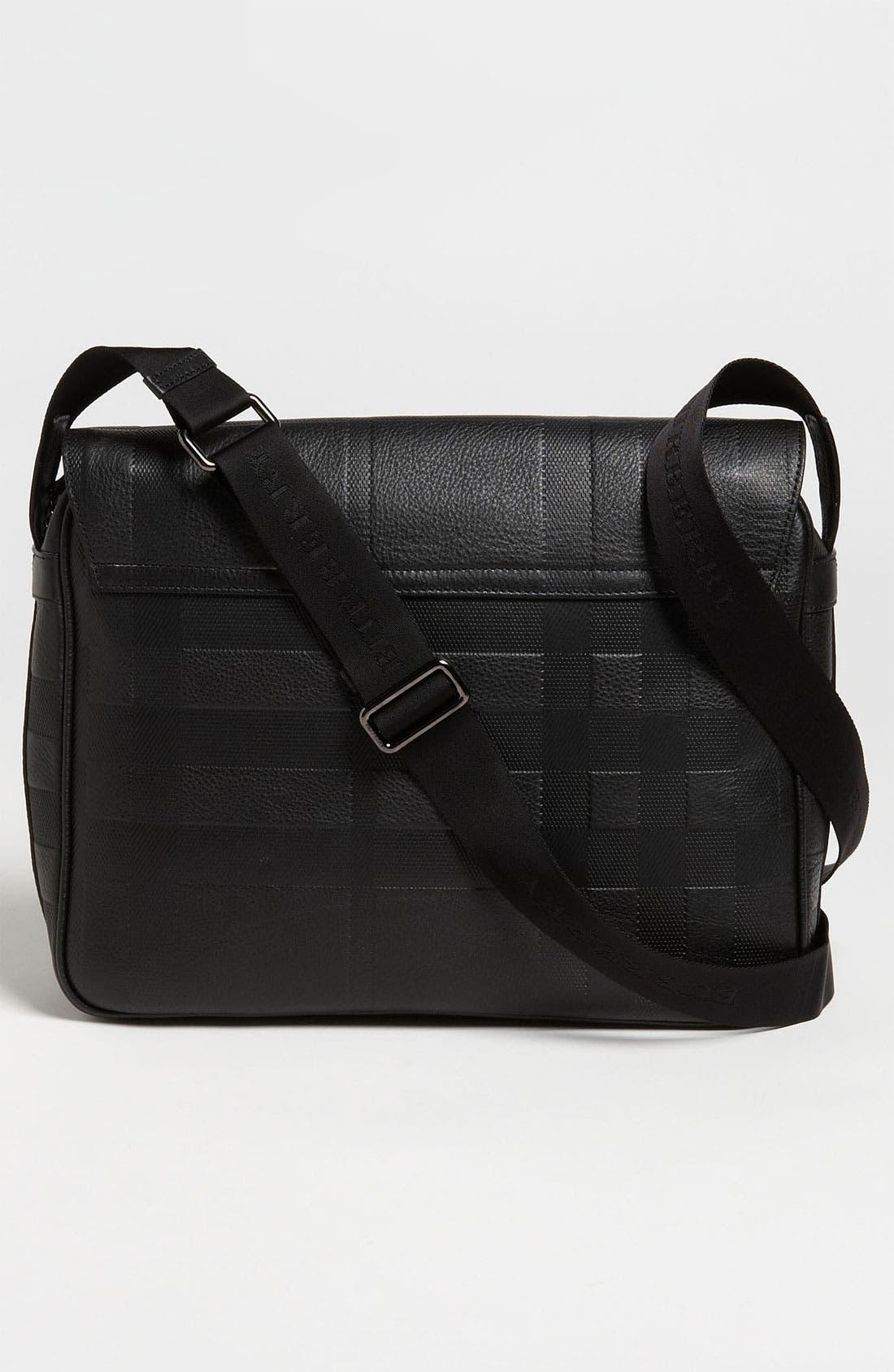 Alternate Image 2  - Burberry 'Emmett' Check Embossed Leather Messenger Bag