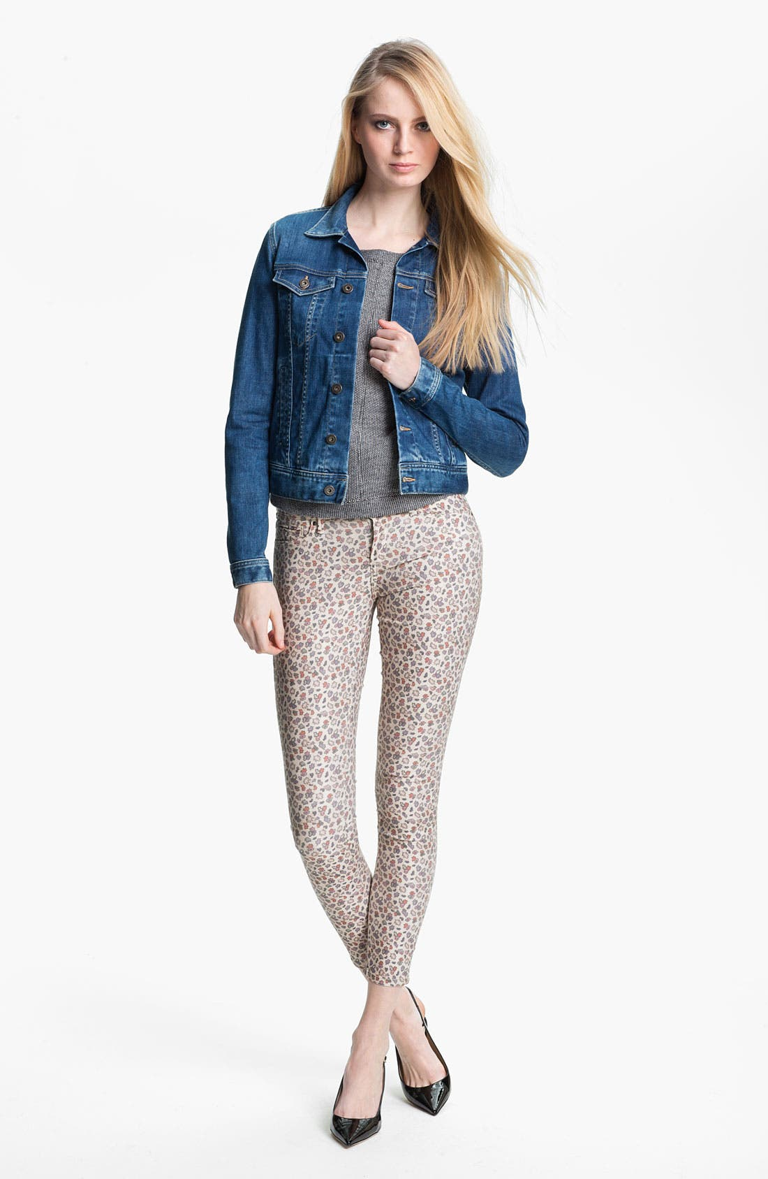 Alternate Image 4  - Twenty8Twelve 'Ashberry' Skinny Print Stretch Jeans