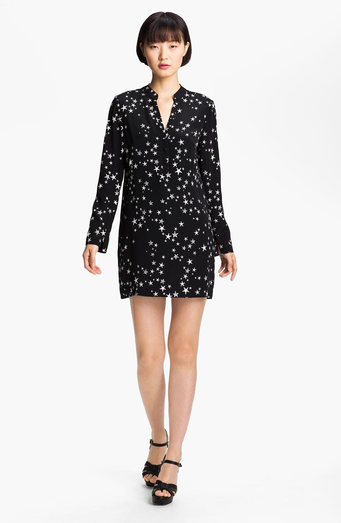 Main Image - Tibi Starfish Print Silk Crêpe de Chine Tunic Dress