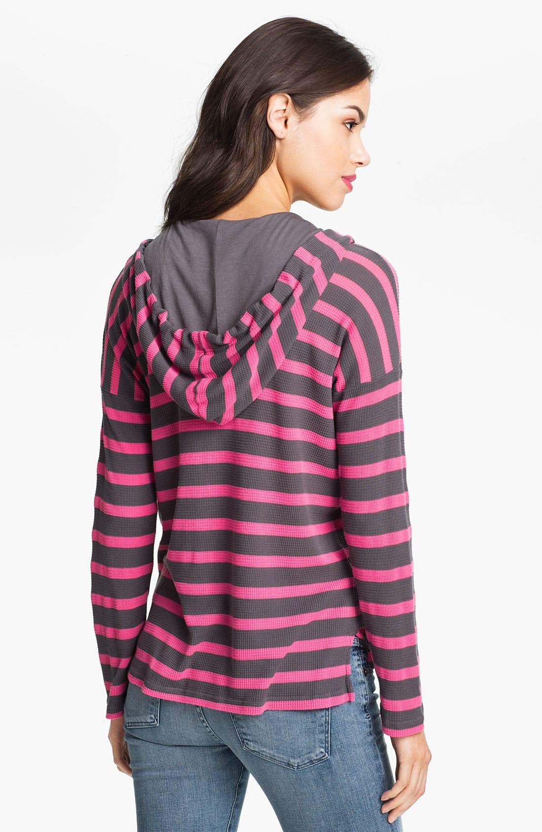 Alternate Image 2  - Splendid Neon Stripe Thermal Hoodie