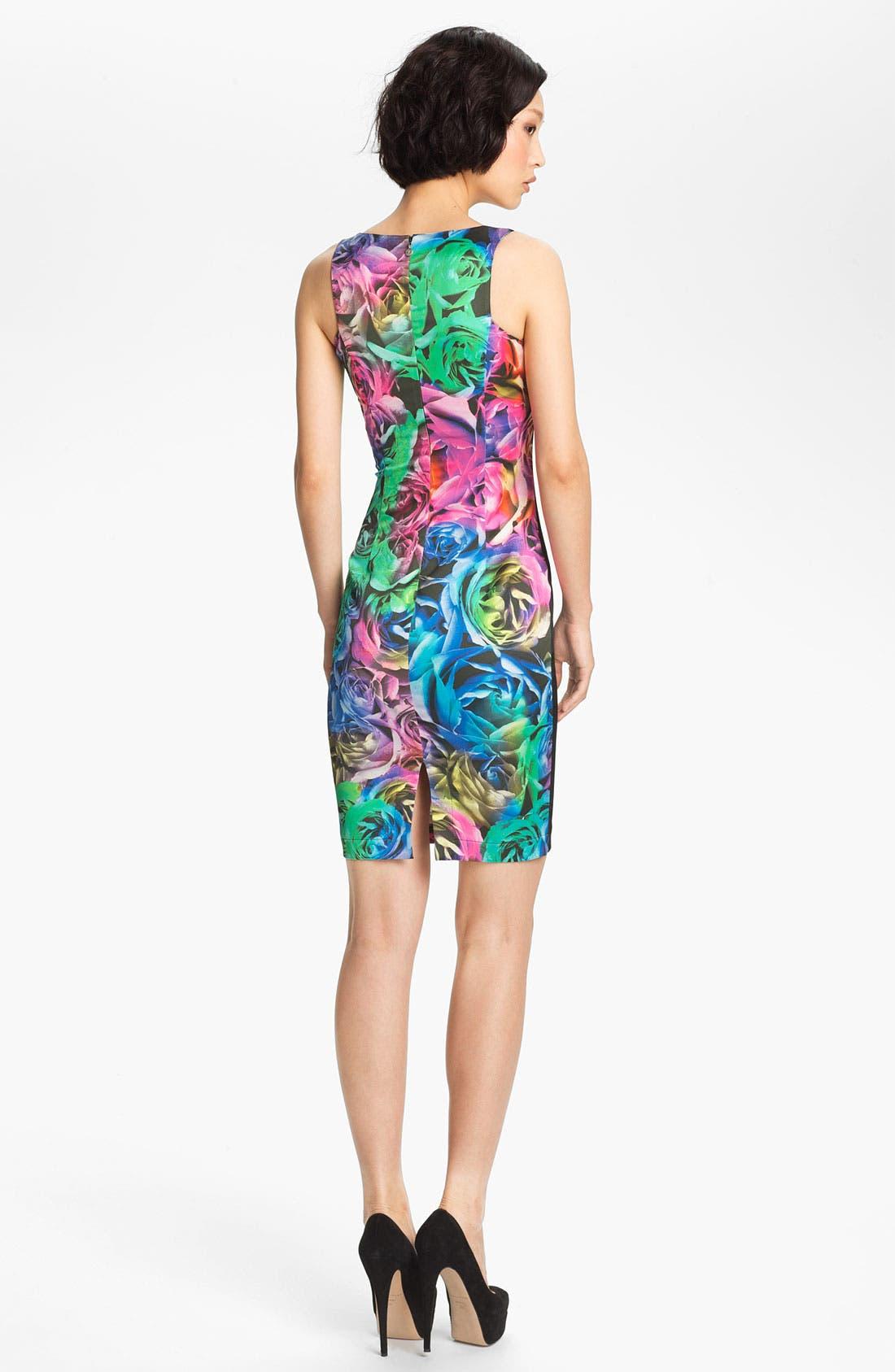 Alternate Image 2  - Just Cavalli Rose Print Sheath Dress