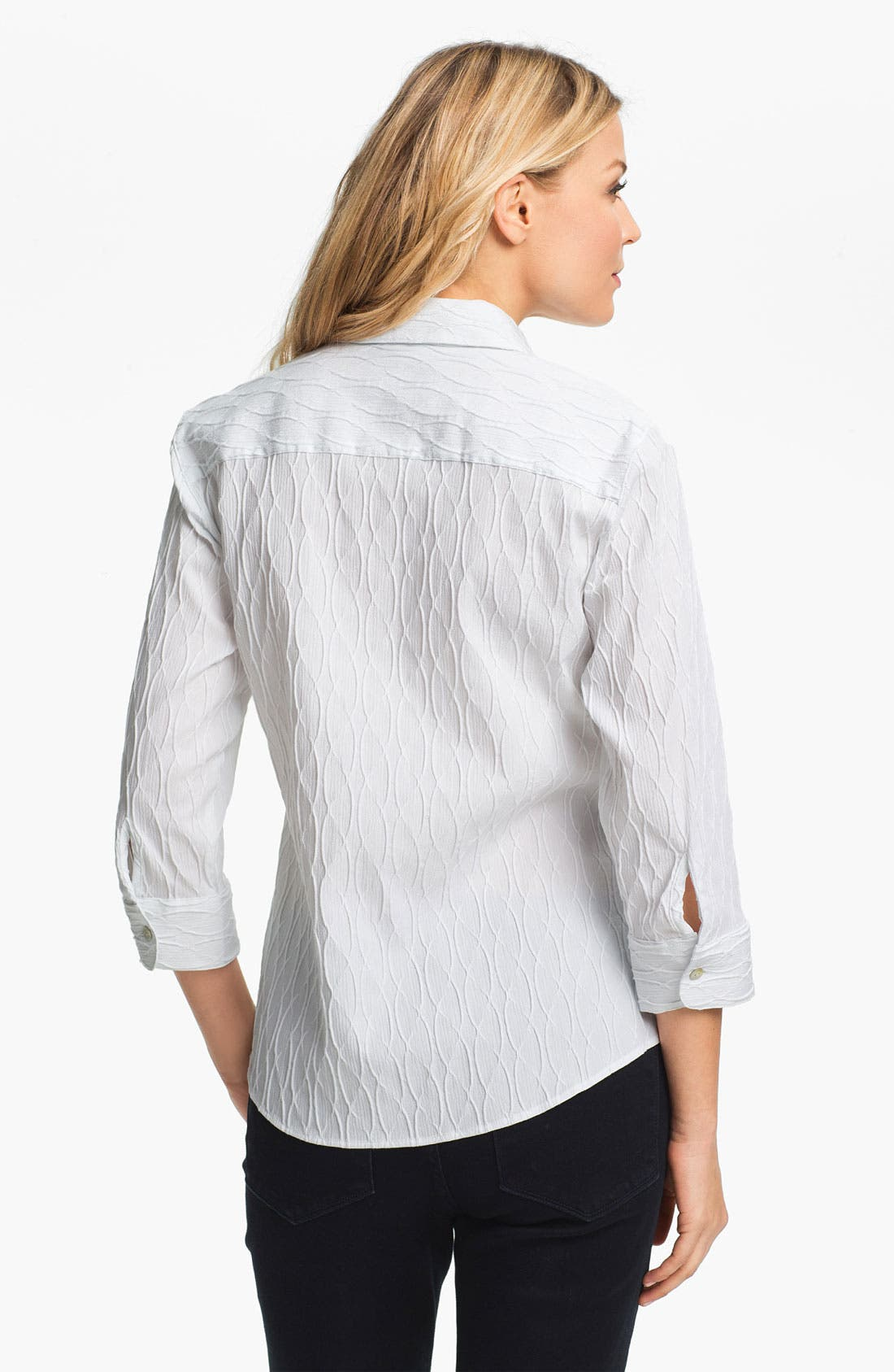 Alternate Image 2  - Foxcroft Textured Shirt