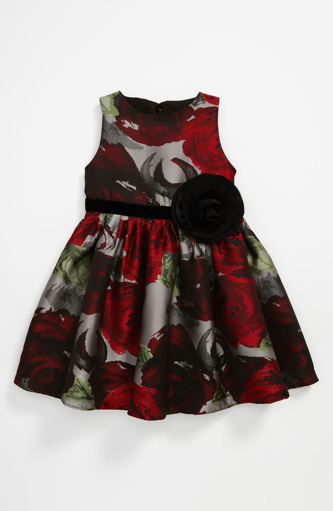 Alternate Image 1 Selected - Us Angels Brocade Dress (Toddler)