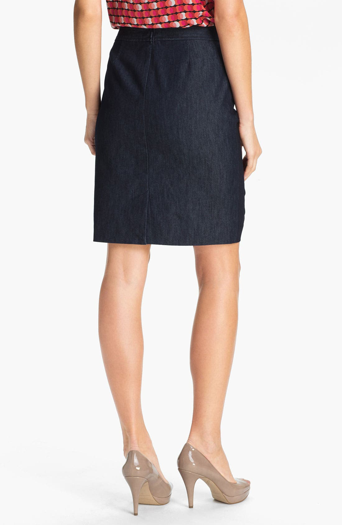 Alternate Image 2  - Halogen® Stretch Woven Skirt (Regular & Petite)