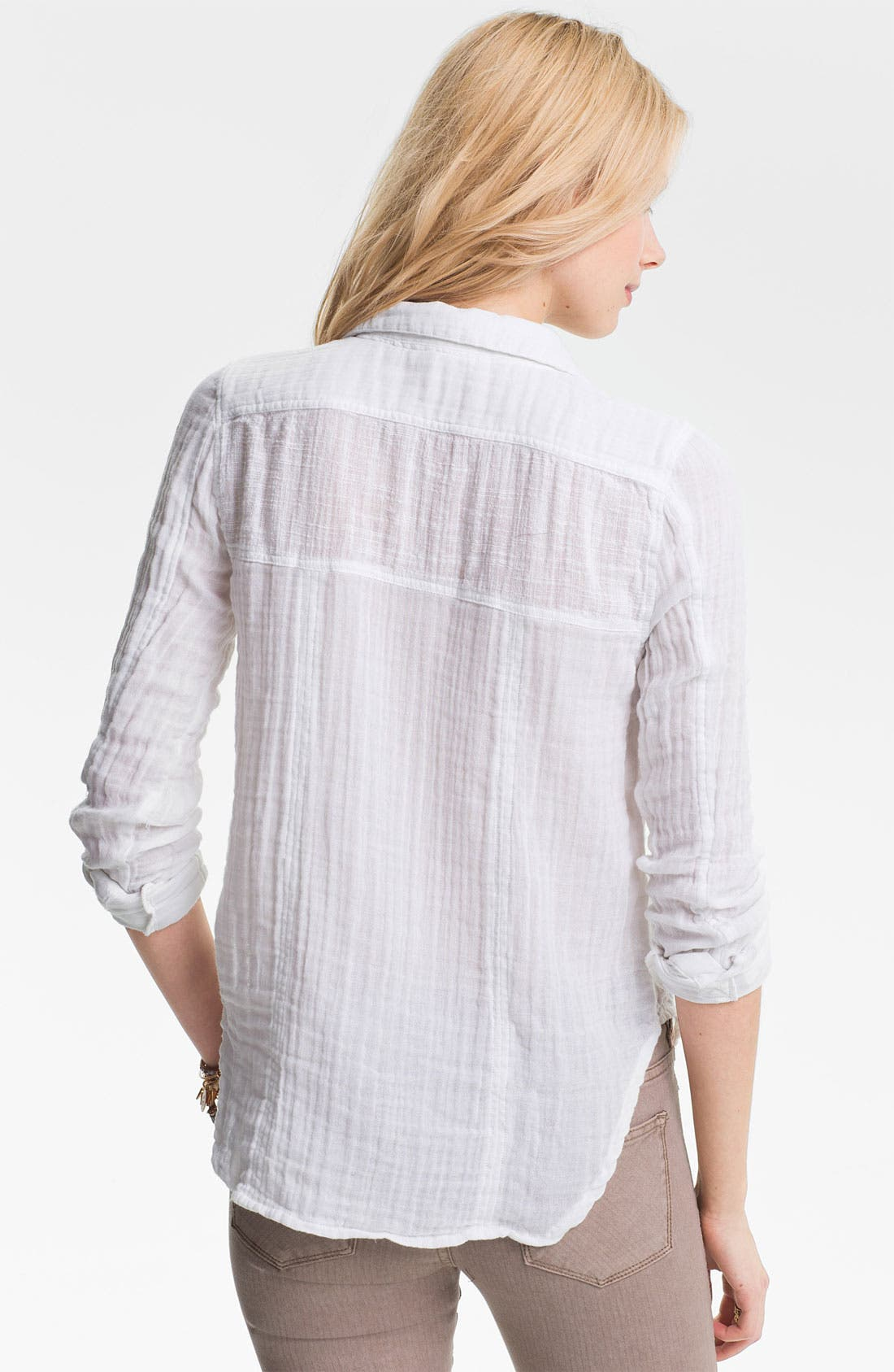 Alternate Image 2  - Free People 'Tried and True' Cotton Gauze Shirt