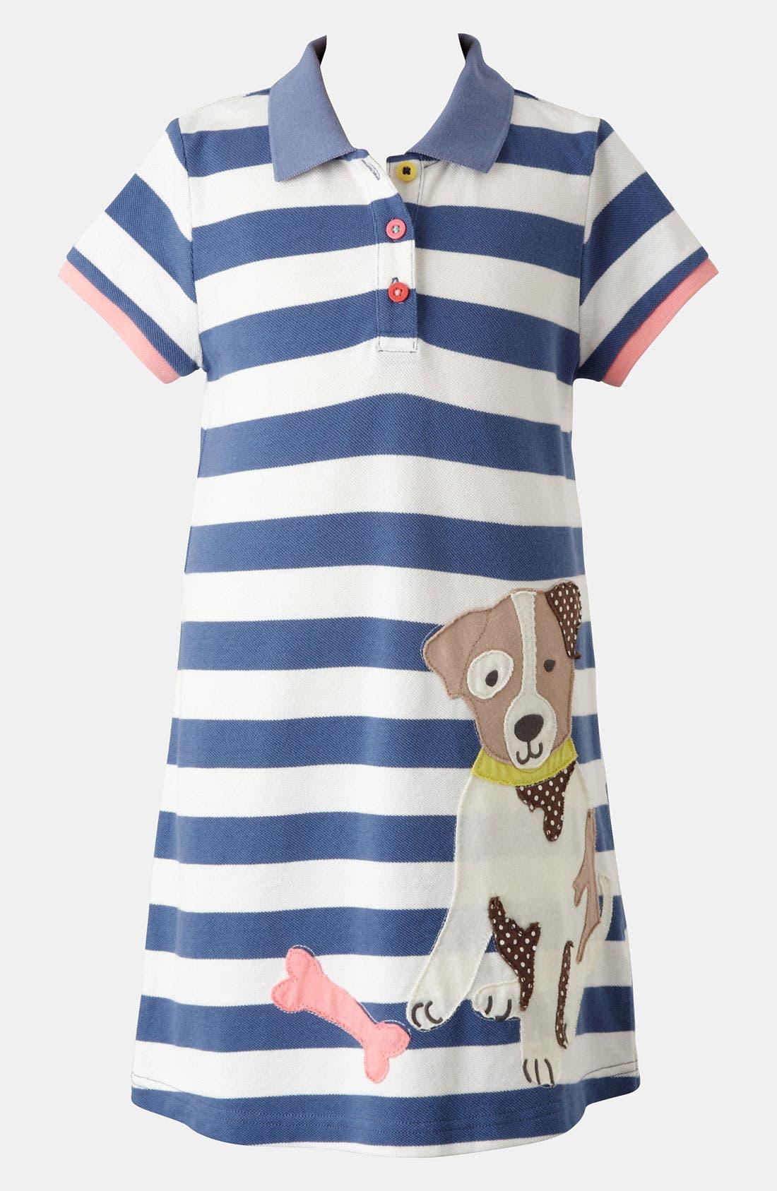 Alternate Image 1 Selected - Mini Boden 'Fun' Appliqué Polo Dress (Toddler, Little Girls & Big Girls)