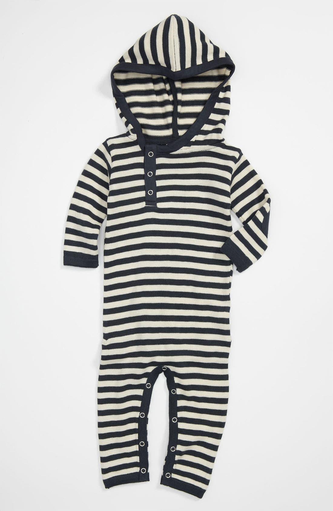 Alternate Image 1 Selected - Kate Quinn Organics Hooded Romper (Infant)