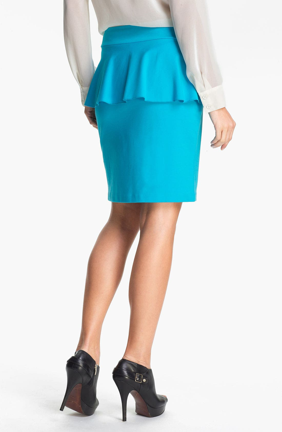 Alternate Image 2  - Kensie Peplum Ponte Skirt