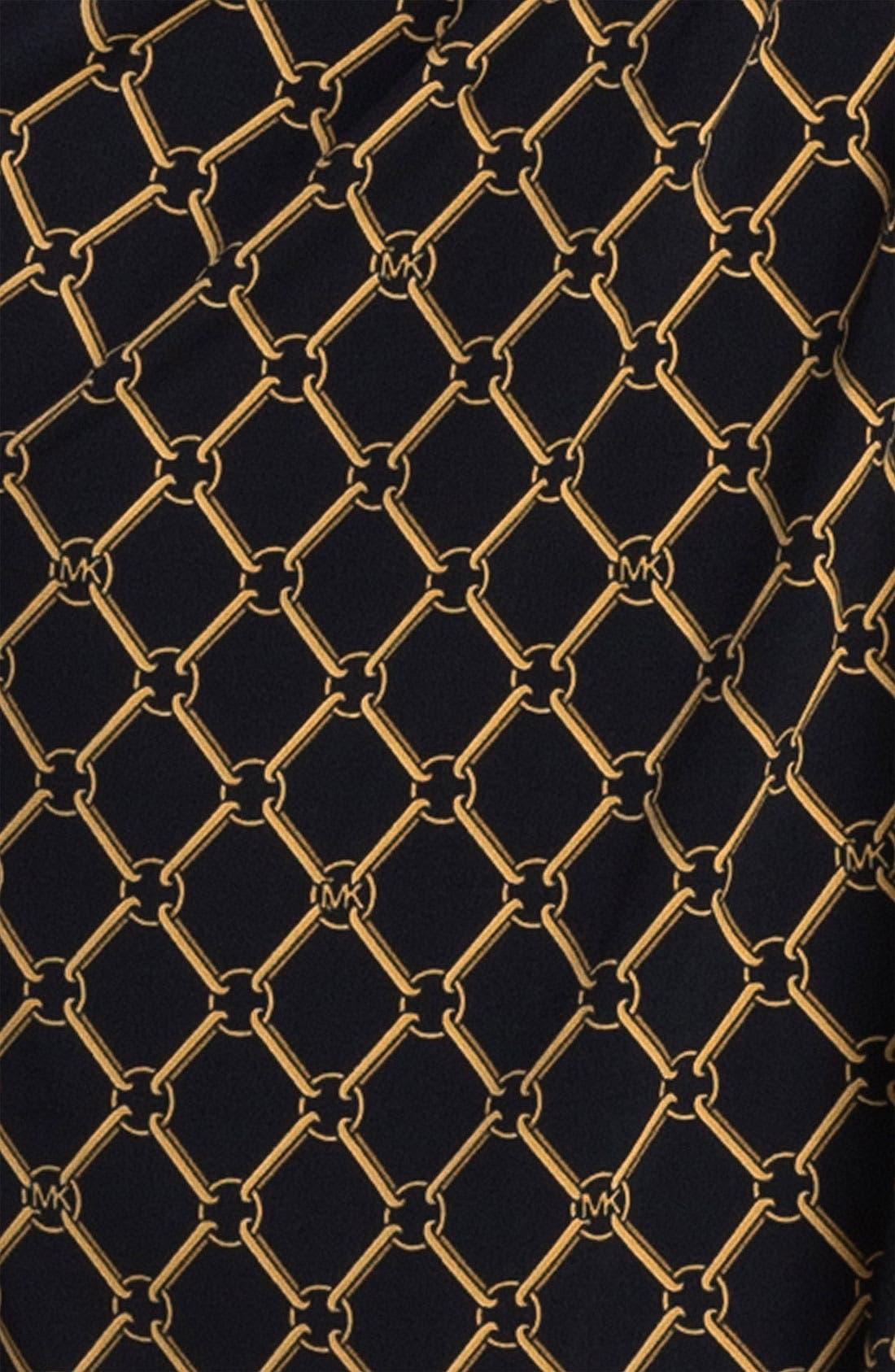 Alternate Image 3  - MICHAEL Michael Kors Chain Print Faux Wrap Dress