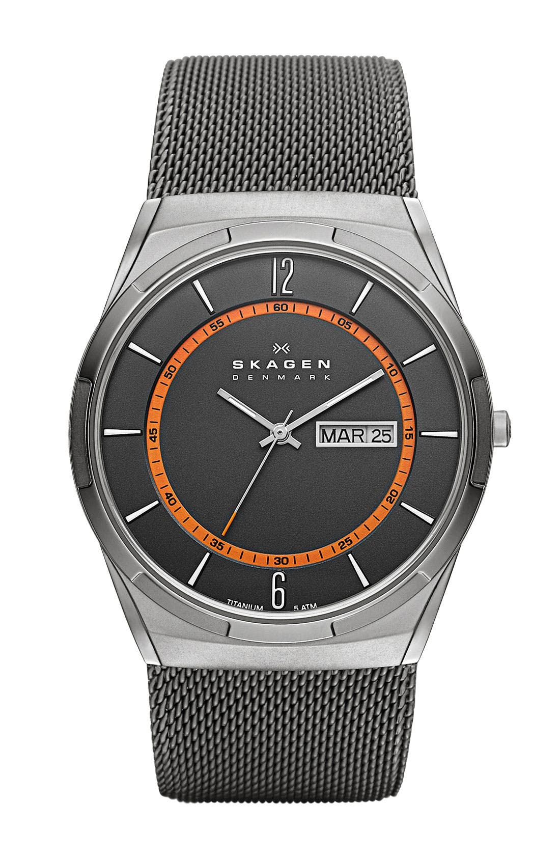 Main Image - Skagen 'Melbye' Round Mesh Strap Watch, 40mm