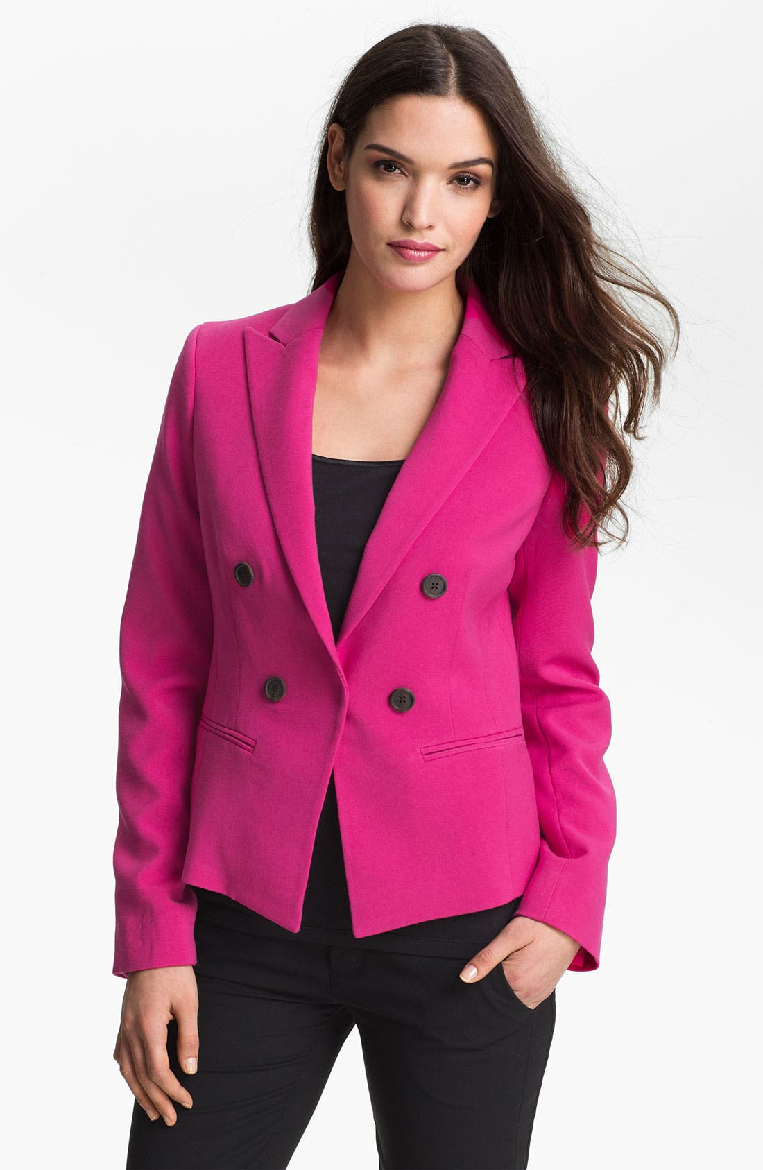 Alternate Image 1 Selected - Anne Klein Faux Double Breasted Jacket
