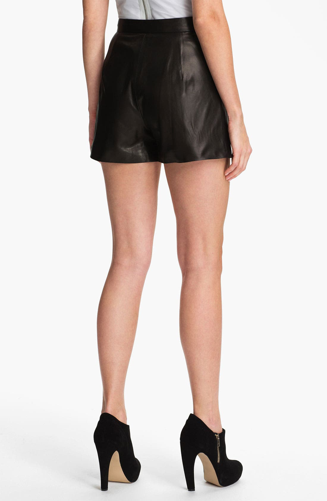Alternate Image 2  - Milly 'Kelsey' Leather Shorts