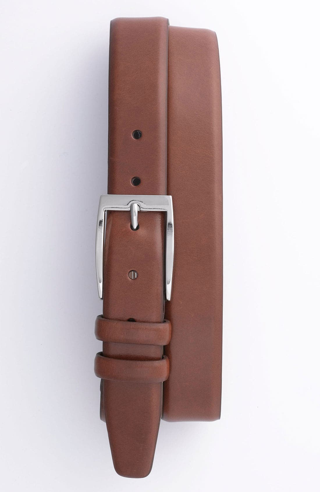 Main Image - Trafalgar Feather Edge Leather Dress Belt