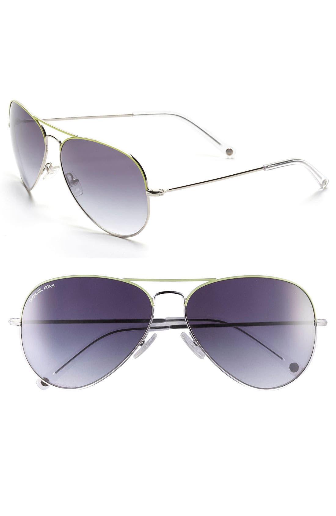 Main Image - MICHAEL Michael Kors 62mm Aviator Sunglasses
