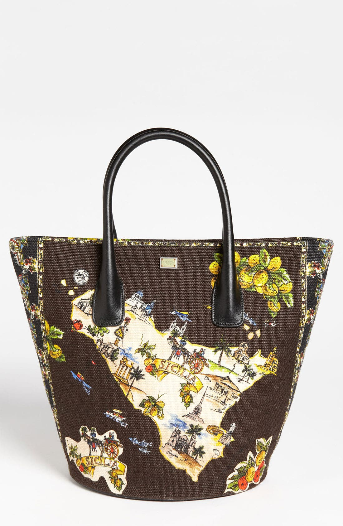 Alternate Image 1 Selected - Dolce&Gabbana 'Miss Ingrid - Sicily Medium' Bucket Shopper