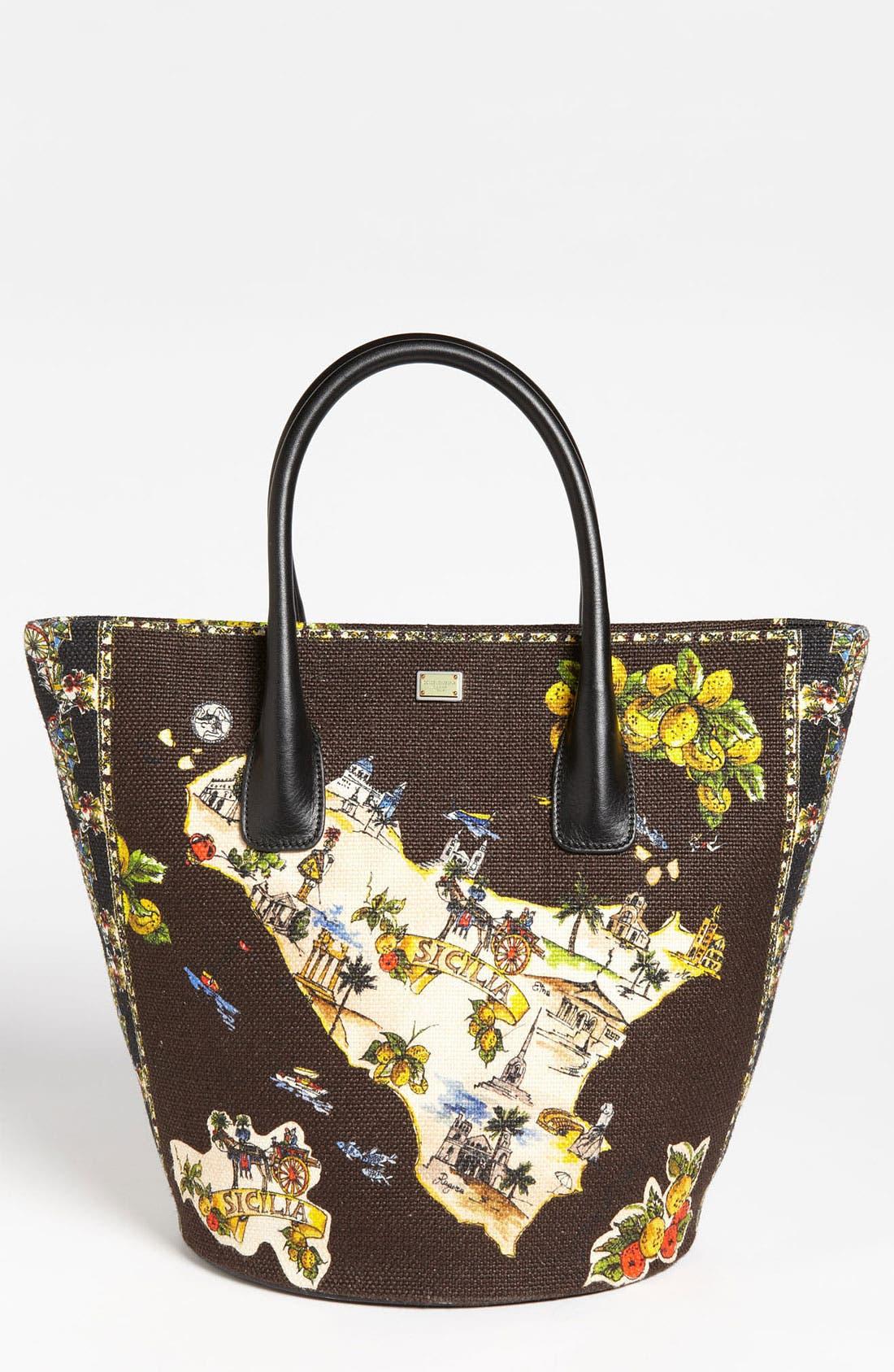 Main Image - Dolce&Gabbana 'Miss Ingrid - Sicily Medium' Bucket Shopper