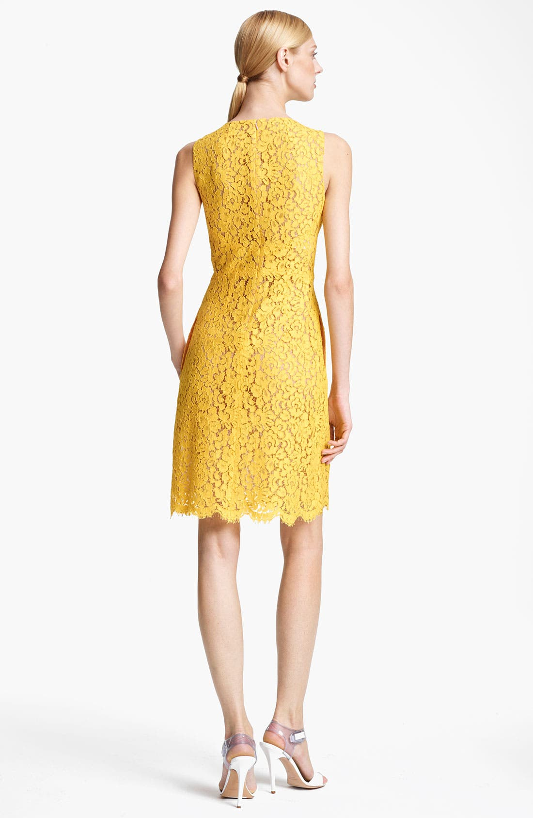 Alternate Image 2  - Michael Kors Floral Lace Shift Dress