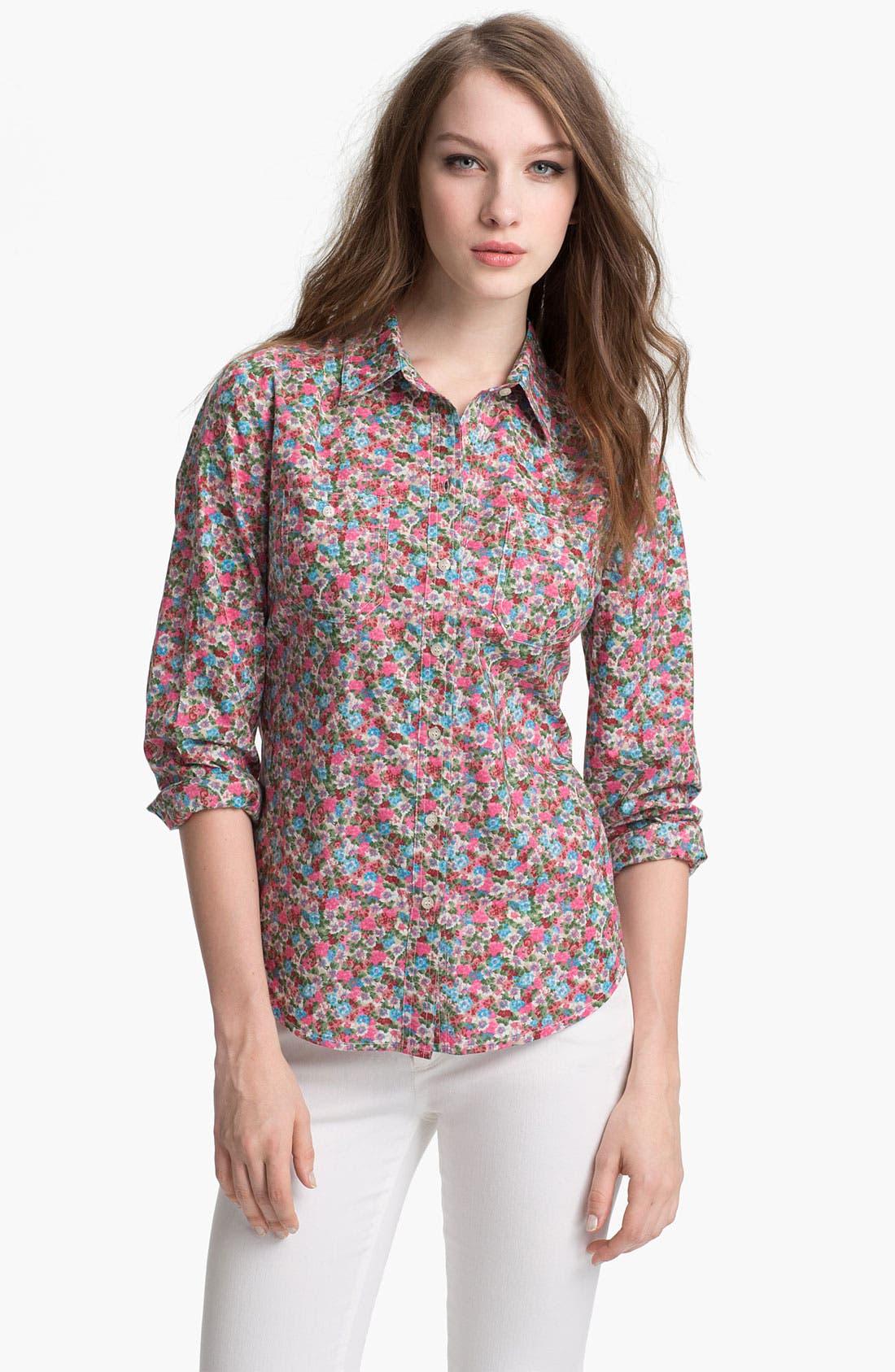 Alternate Image 1 Selected - Sandra Ingrish Cotton Shirt (Petite)