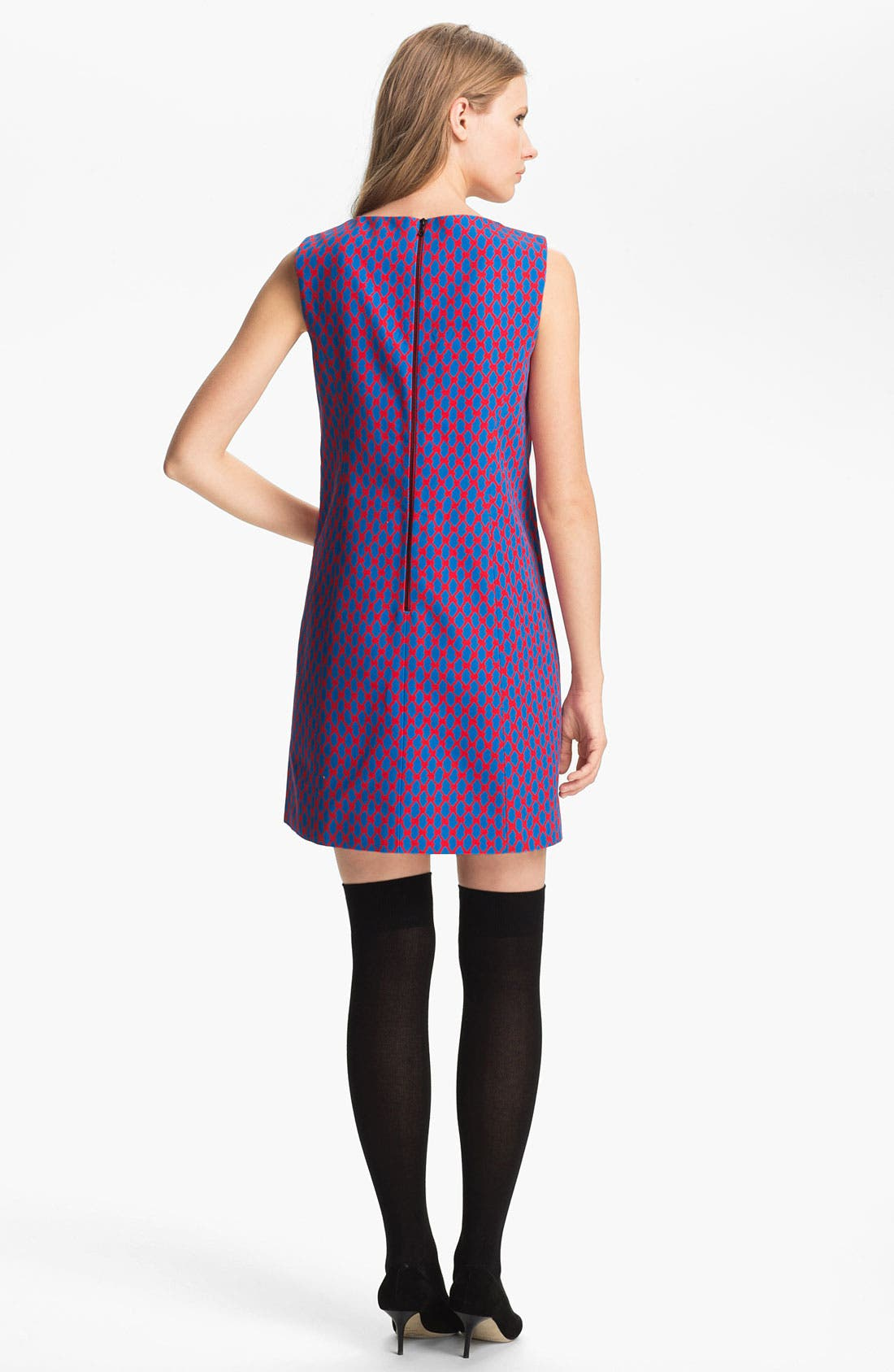 Alternate Image 2  - Miss Wu Geometric Print Faille Dress (Nordstrom Exclusive)