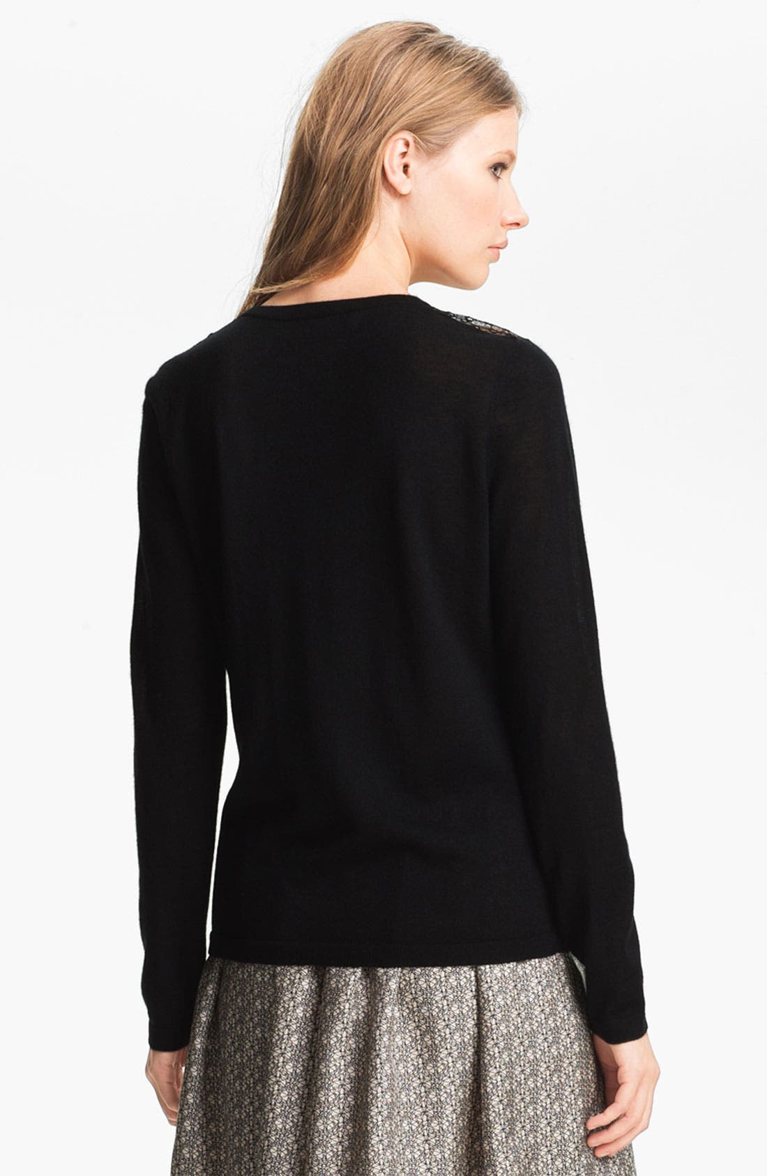 Alternate Image 3  - Miss Wu 'Sofie' Lace Yoke Cashmere Sweater (Nordstrom Exclusive)