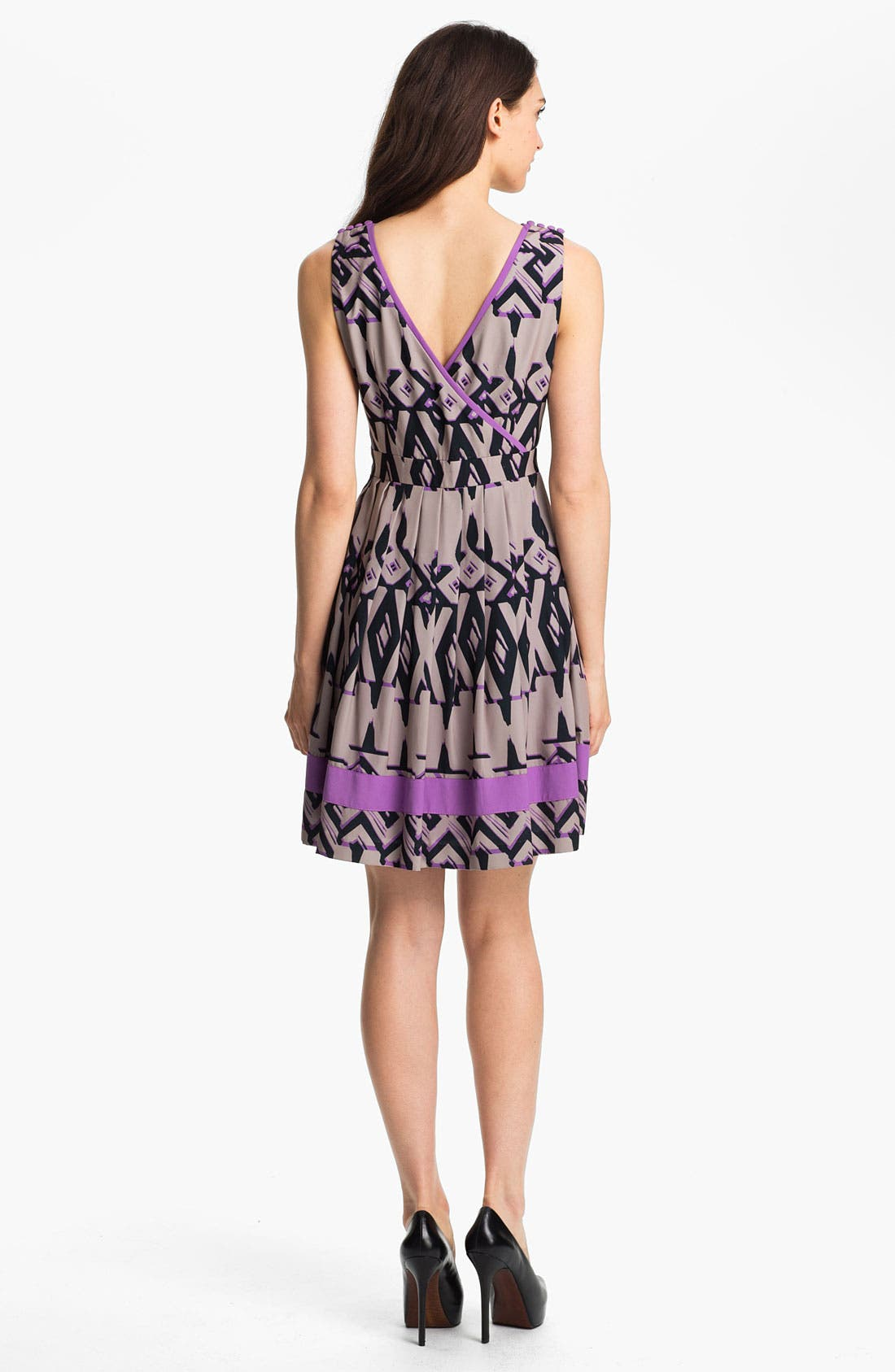 Alternate Image 2  - Jessica Simpson Print Fit & Flare Dress
