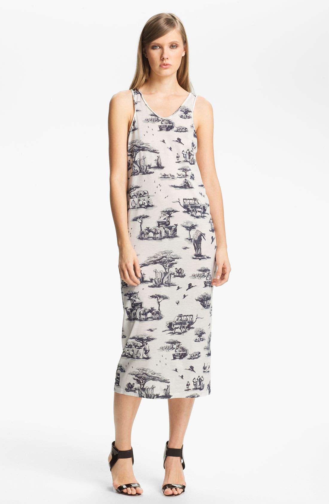 Alternate Image 1 Selected - Carven Safari Print Jersey Column Dress