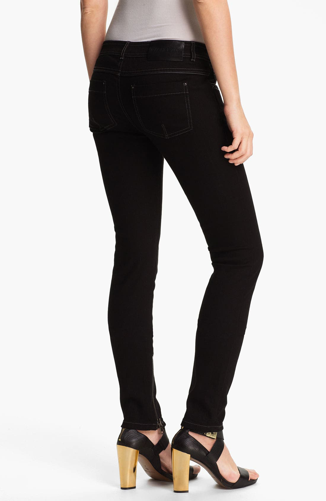 Alternate Image 2  - Rachel Zoe 'Julie' Piped Detail Skinny Stretch Jeans