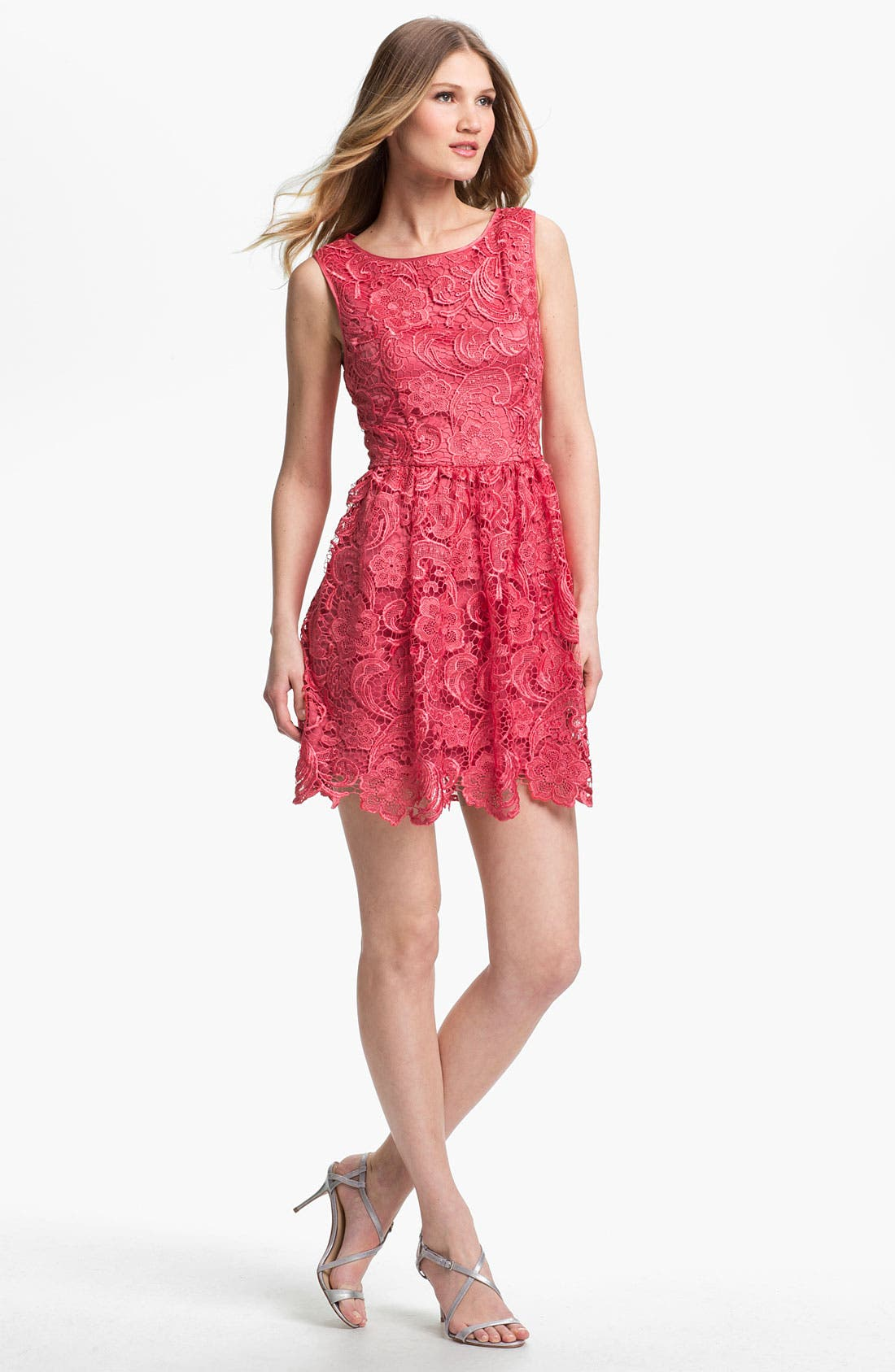 Main Image - Adrianna Papell Lace Fit & Flare Dress