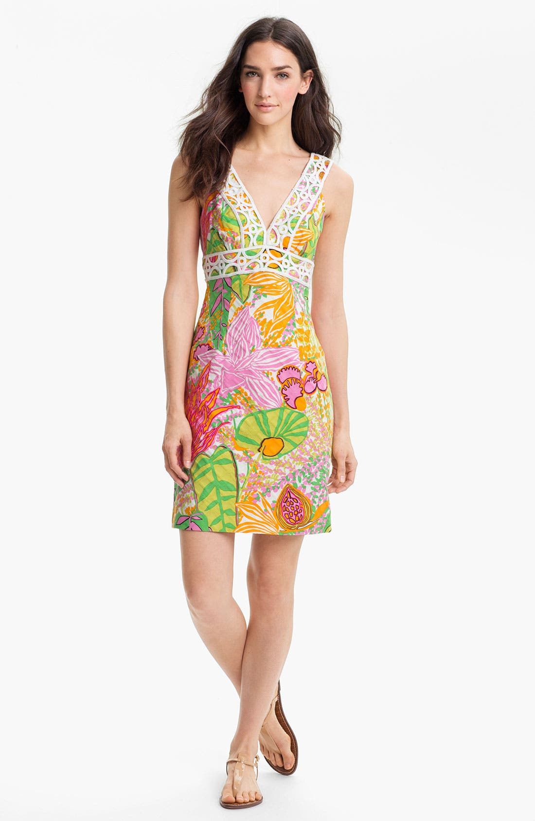 Alternate Image 1 Selected - Trina Turk 'Secret' Print V-Neck Dress