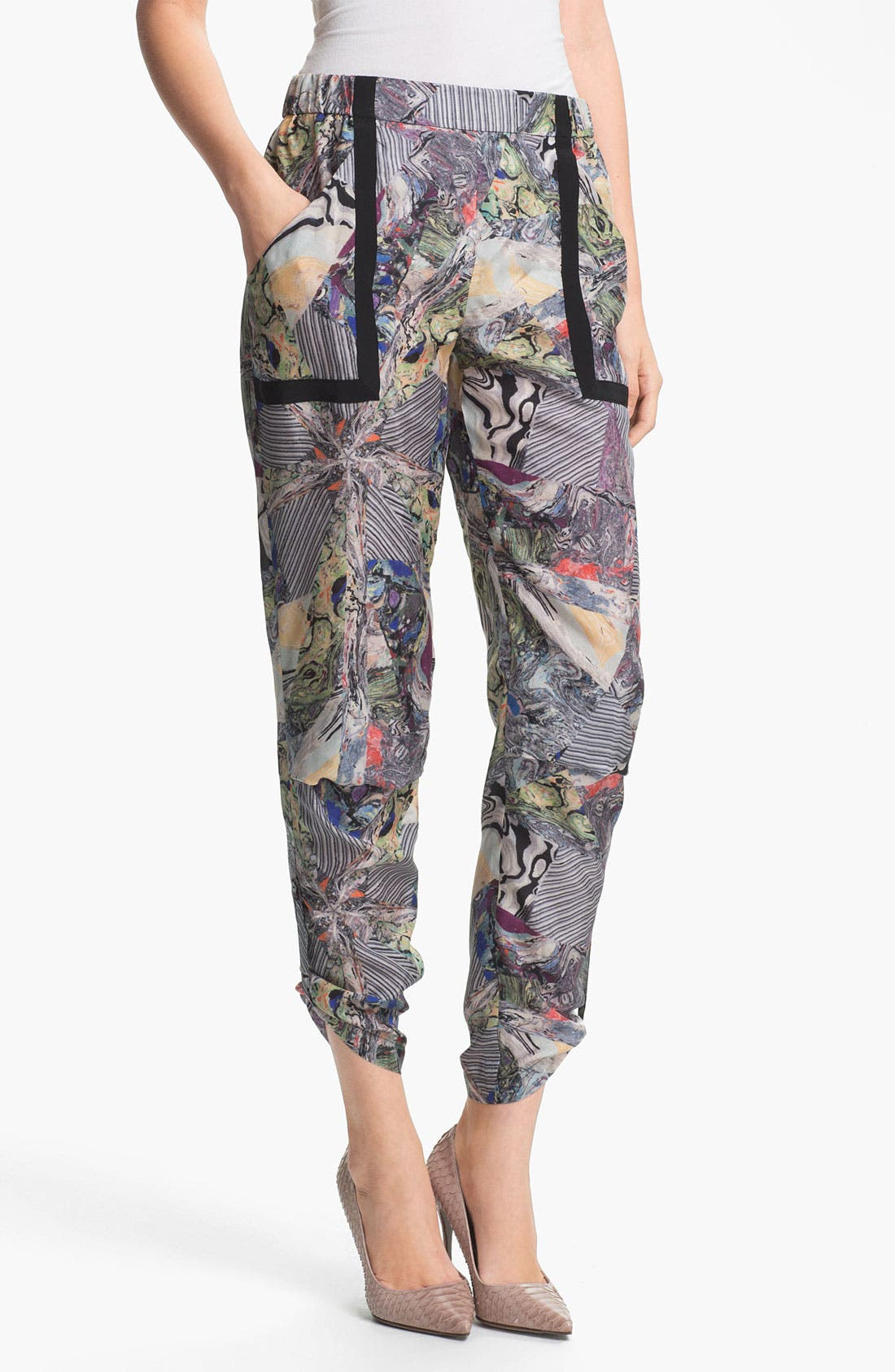 Alternate Image 1 Selected - Kelly Wearstler 'Array' Print Silk Pants