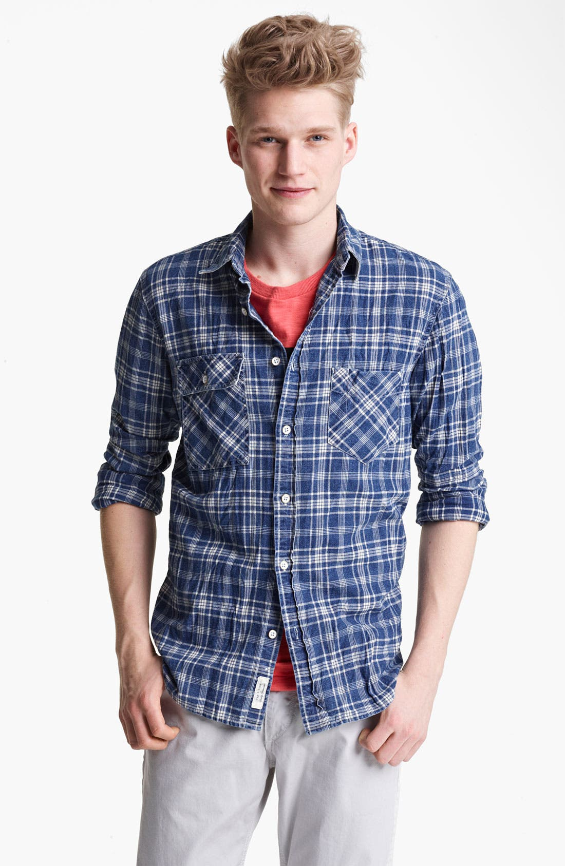 Main Image - rag & bone 'Trail' Plaid Woven Shirt