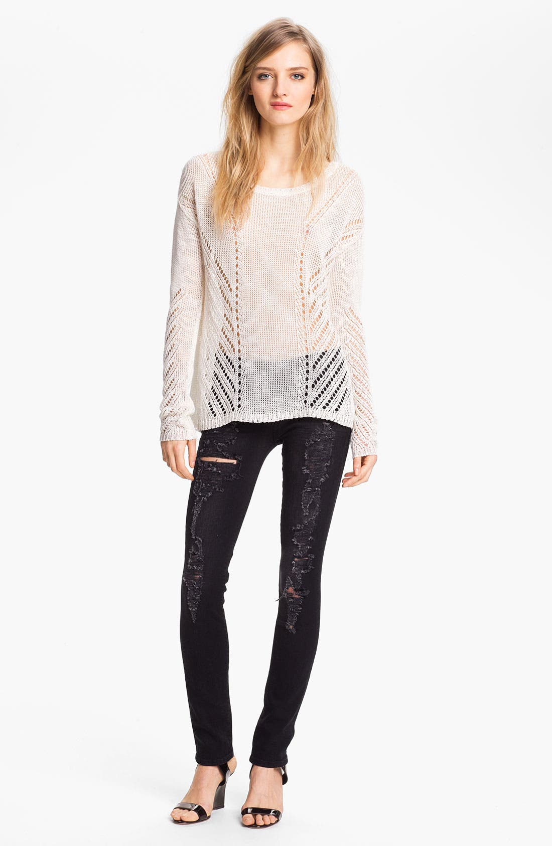 Alternate Image 3  - TEXTILE Elizabeth and James 'Debbie' Waxed Skinny Stretch Jeans