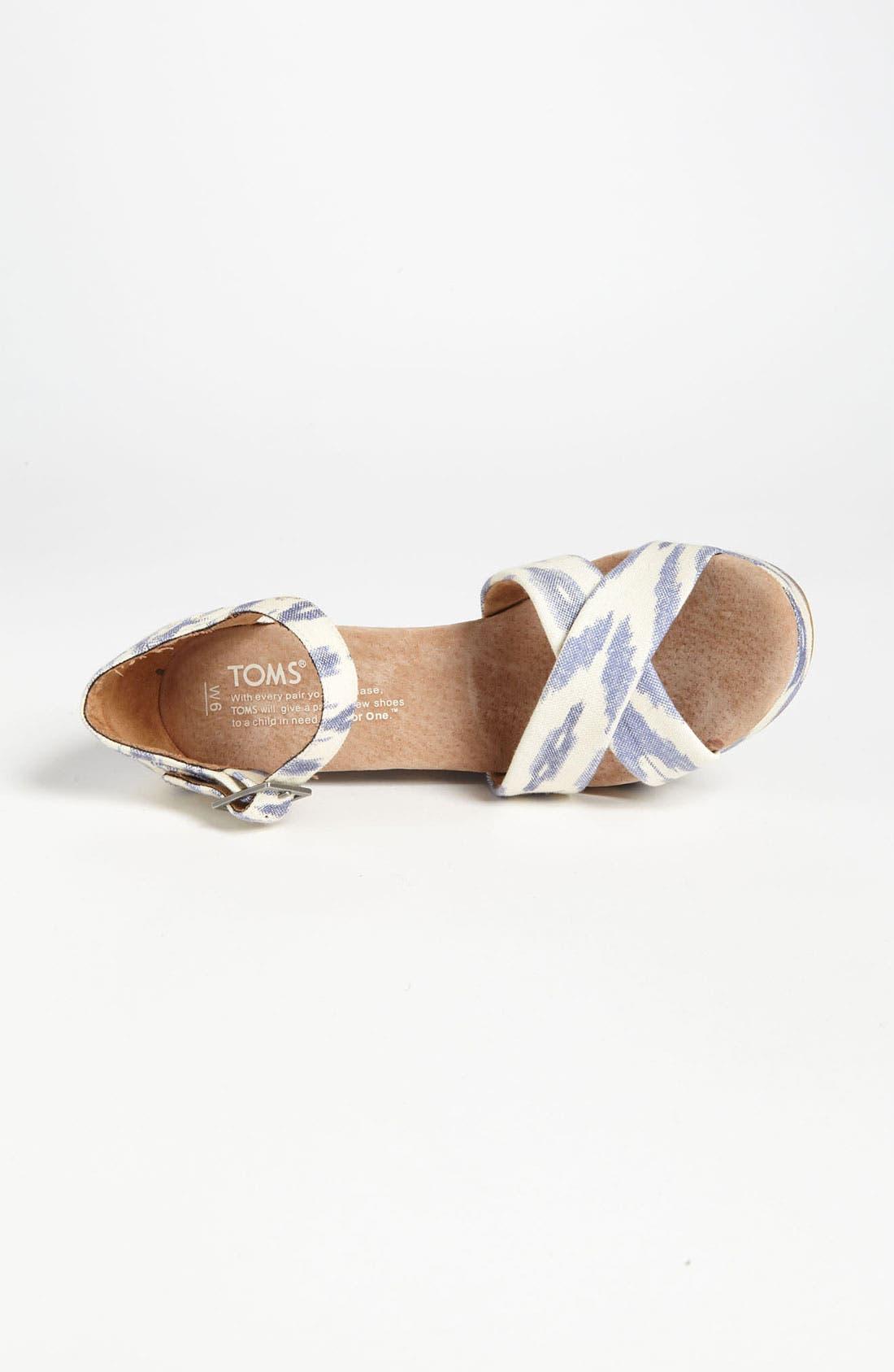 Alternate Image 3  - TOMS 'Ikat' Wedge Sandal