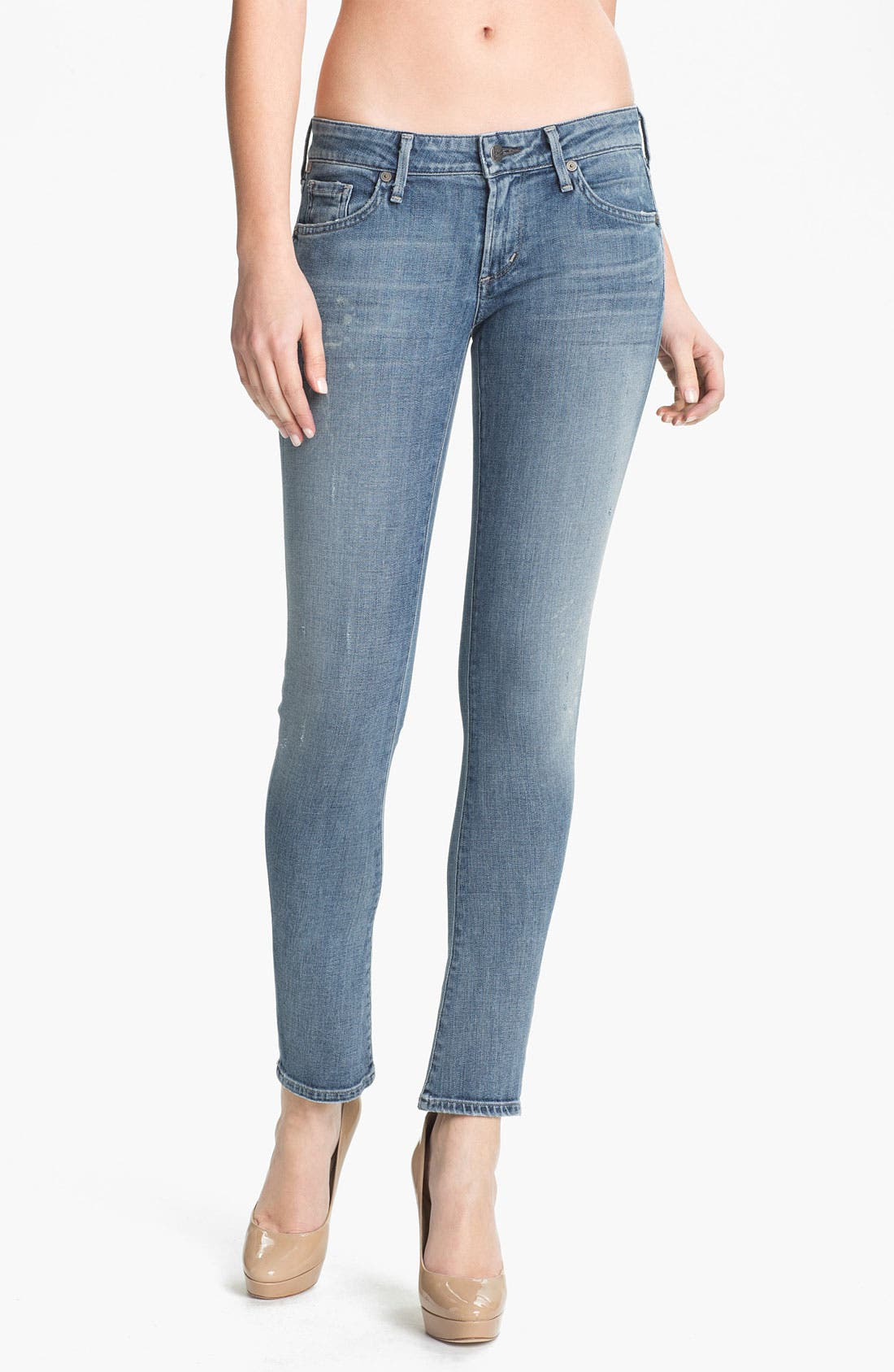 Alternate Image 1 Selected - Citizens of Humanity 'Racer' Low Rise Skinny Jeans (Mystic)