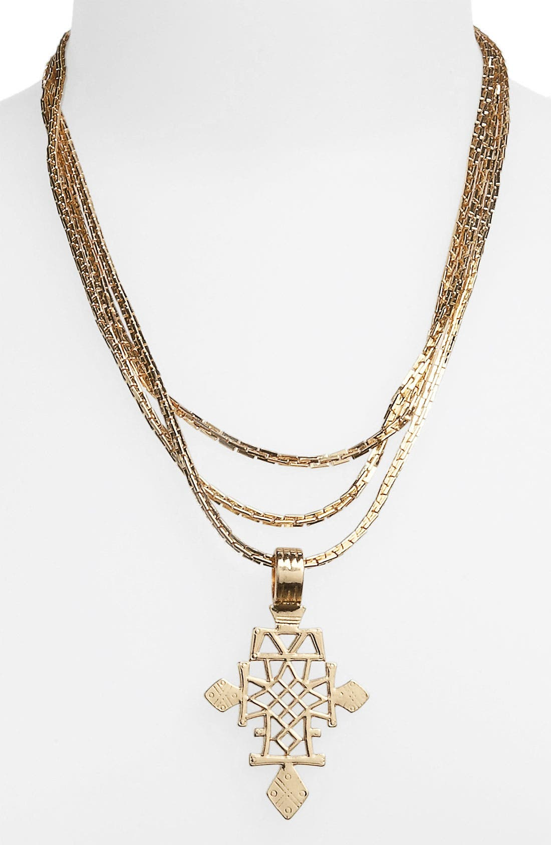 Main Image - Topshop 'Aztec Cross' Necklace