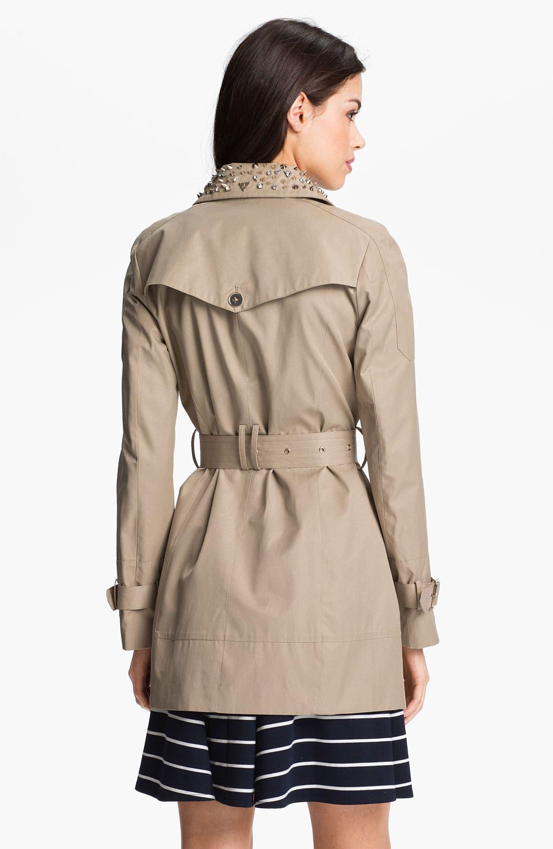 Alternate Image 2  - Sam Edelman Embellished Collar Trench Coat
