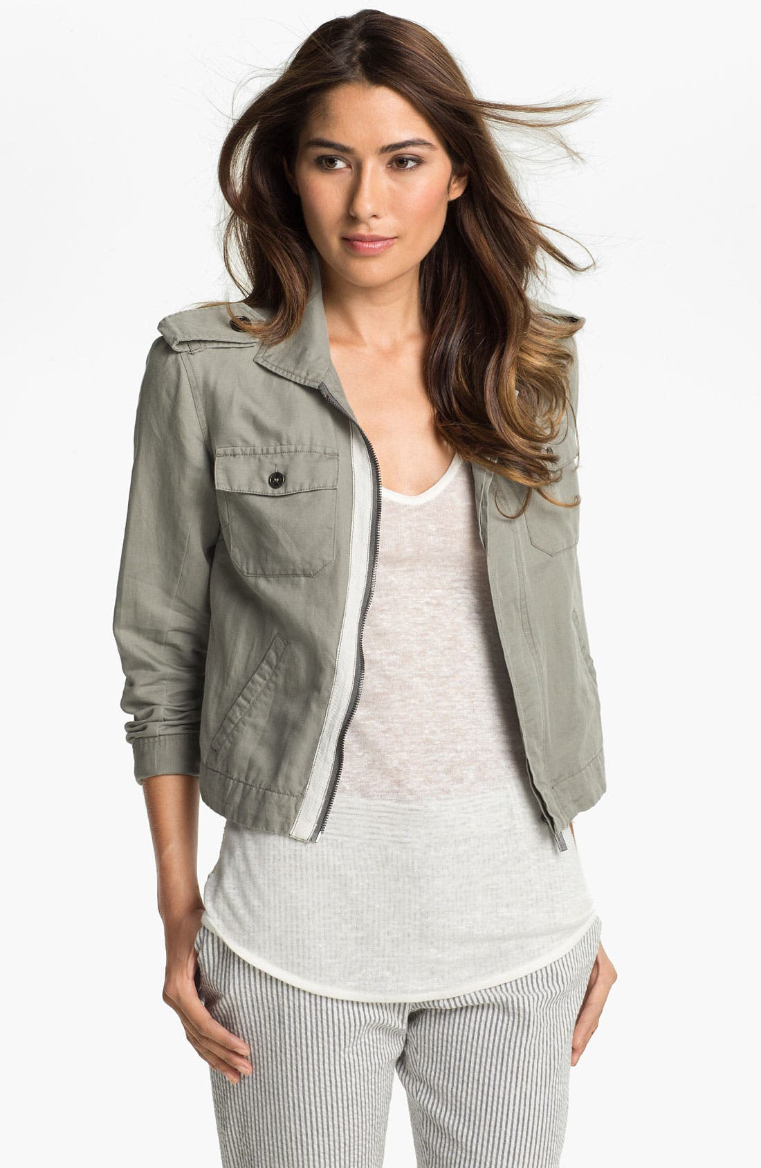 Alternate Image 1 Selected - Two by Vince Camuto Zip Front Utility Jacket