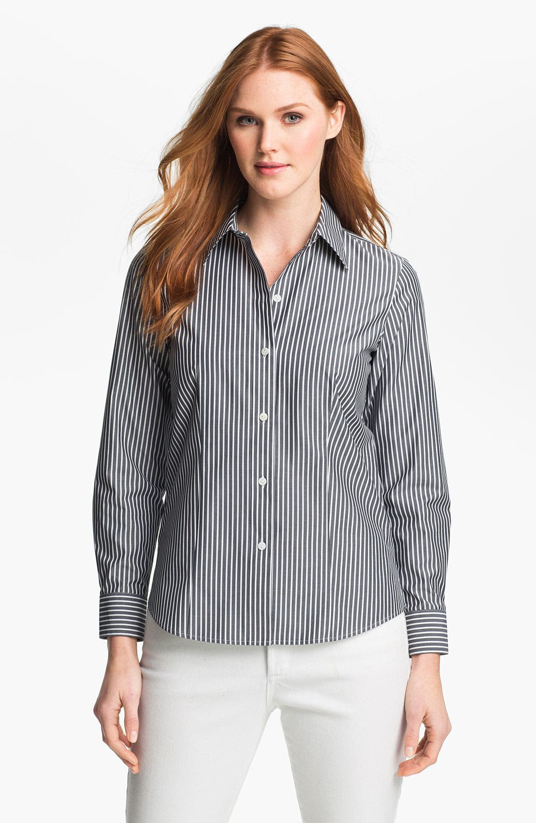 Alternate Image 1 Selected - Foxcroft 'Essential' Stripe Shirt