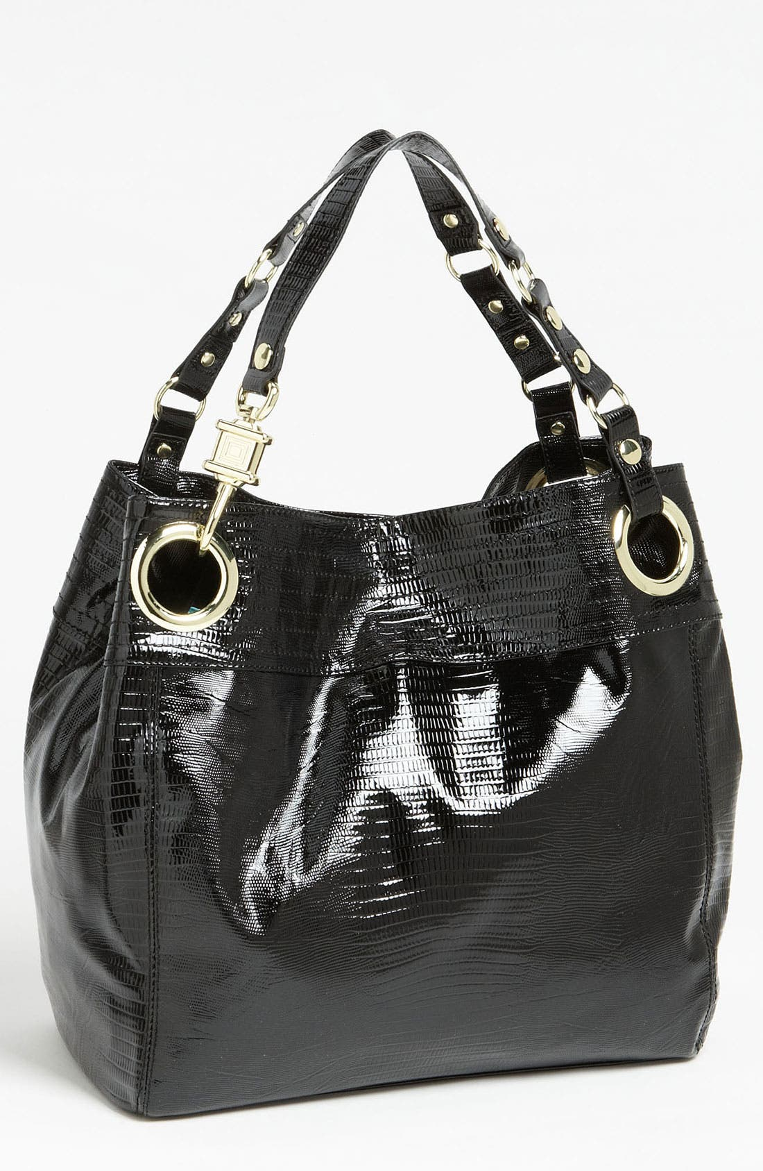 Alternate Image 1 Selected - Steven by Steve Madden 'Candy Coated' Lizard Embossed Tote
